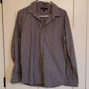 Mens Gray Button Up Shirt